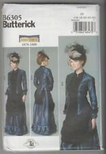 Butterick Sewing Pattern B6305 Making History Victorian Top Skirt Costume 16-24