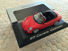 PORSCHE MINICHAMPS DEALER 911 991 CARRERA CABRIOLET 1:43rd SCALE MODEL 2012-2015
