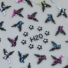 3D Nail Art Rhinestone Sticker Decals Nail Tips Decoration Butterfly Flowers H1