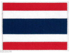 "Thailand Flag Embroidered Patch 12cm X 9cm (4 3/4"" X 3-1/2"")"
