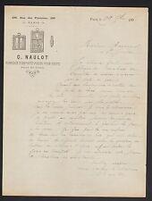 """PARIS (XX°) USINE d'EMPORTE-PIECES pour GANTS """"C. NAULOT"""" Rue des Pyrenées 1898"""