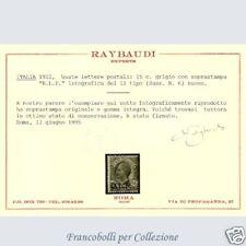 Regno B.L.P. # 6 Certif. Raybaudi BLP FARE OFRECE