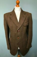 . Vintage 1960's tweed west of England checked green hacking jacket size 40