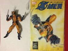 "MARVEL LEGENDS Loose Astonishing Wolverine TOYBIZ 6"" Figure (x-Men) W/ Comic"