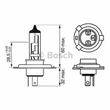 BOSCH LONGLIFE Headlight Bulb 472 H4 12V