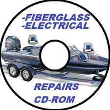 SKI BOAT-FISHING BOAT FIBERGLASS & ELECTRICAL REPAIR BIBLE CDROM