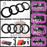 Audi S1 Gloss Black SET KIT of Front Rings Badge Grille Boot Lid Trunk Emblem
