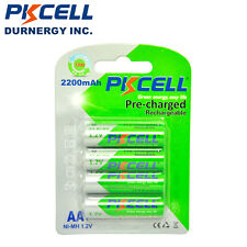 4pcs Ni-Mh AA Rehargeable Batteries 2200mAh 1.2V NIMH Pre-charged Battery PKCELL