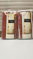 "2 Panels Erica Window Sheer 51"" Wide x 63"" Long Spice Color"