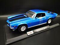 Maisto 1:18 Scale Chevrolet Camaro 1971 metalic blue Diecast Model Car Toy New