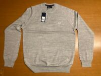 FRED PERRY MARL CREW NECK SWEATER