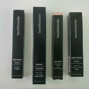 NEW Lot bareMinerals Gen Nude Lip Lacquer Lipcolor Eyeshadow Moxie Lipgloss P4