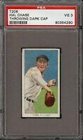 Rare 1909-11 T206 Hal Chase Throwing Dark Cap Polar Bear New York PSA 3 VG