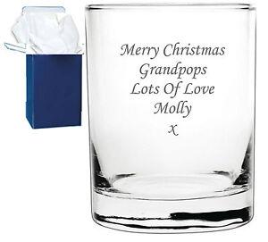 Personalised Engraved Whisky Whiskey Spirit Glass Tumbler Birthday Wedding Gift