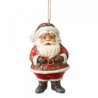 Jim Shore - Heartwood Creek - Mini Jolly Santa Hanging Ornament