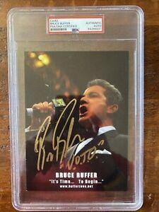 Bruce Buffer Signed 5x7 Photo Card PSA DNA Coa Slabbed Autographed UFC MMA