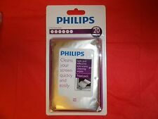 Philips Screen Cleaner-20 ANTI-STATIC & GLARE WIPES:PC/PHONE/GPS/Plasma/LCD/LED