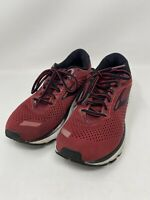 Men's Brooks Ghost 12 Running Shoes Size 9.5 Medium (D) Red & Black Sneakers