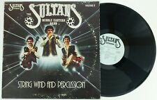 The Sultans LP Vinyl Record Middle Eastern Band String Wind and Percussion Vol 2