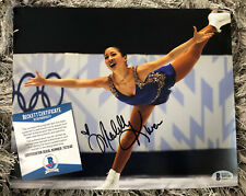 Michelle Kwan Gold Medalist US Olympic Skater Signed 8x10 PhotoBAS Beckett COA