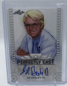 2016 ED BEGLEY JR LEAF PERFECTLY CAST AUTHENTIC AUTO ACTOR