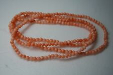VINTAGE  NATURAL ANGLE SKIN CORAL BEAD  NECKLACE