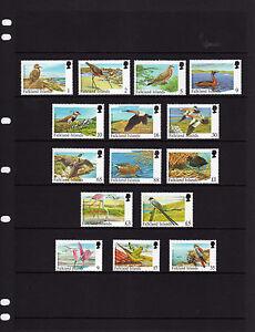 FALKLAND ISLS.  1998, RARE VISITING BIRDS, FULL SET, 15v., MNH