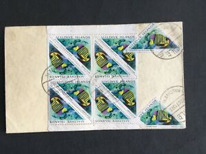 MALDIVE ISLANDS 1963 COVER TRIANGULAR STAMPS