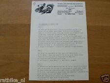 1980 PRESSE INFO WK ICESPEEDWAY KWARTFINALE DEVENTER 19 JANUARI 1980 HEAT 1/M 20