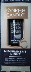 NEW Yankee Candle Midsummer's Night Diffuser Oil - Infused w/ Essential Oil