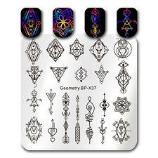 Nail Stamping Plate Nail Art Square Geometry Arrow Image Template Born Pretty