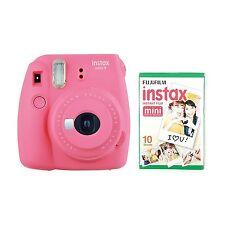 FUJIFILM Instax Mini 9 Instant Camera with 10 Shots - Pink