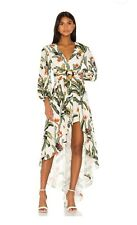 NWT PatBO IVORY Tropical print HI LO ROMPER V Neck Size 2 $675 SOLD OUT!