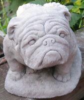 Concrete Angel Bulldog Statue