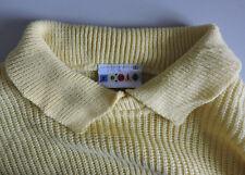 Vintage década de 1980 para mujer puente Amarillo Holgado Jersey Cuello Redondo Pequeño Collar Remix