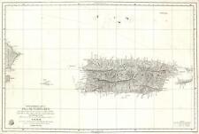 1840 Moreno 'Deposito Hidrografico' Map of Puerto Rico (Porto Rico)