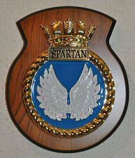 HMS Spartan plaque crest Royal Navy RN Swiftsure class submarine