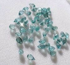 1 Very Rare Natural Blue Zircon Faceted Briolette 4881A
