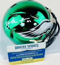 ZACH ERTZ SIGNED CHROME SPEED FOOTBALL MINI HELMET PHILADELPHIA EAGLES COA1