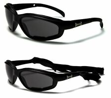 8d9949eacbb NEW BLACK CHOPPERS SPORT BIKER MOTORCYCLE GOGGLES MOTORBIKE PADDED GLASSES  UV400