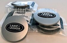 1996-2018 Land Rover Range Rover Sport SILVER w/ BLACK OVAL CENTER CAPS 63mm