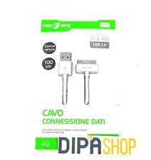 Cavo Adattatore Usb TeKone I4-02 Dati Ricarica Per Apple Iphone 4 4G 4s 3G hsb