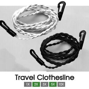 Travel Clothesline GENUINE Clothes Line Pegless Washing Line Camping Au Stock