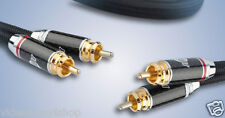 JIB-CABLE GERMANY CHROME DUE 2 COPPIA CAVO SEGNALE HI-END RCA RCA DA 1,5 MT ONIX