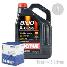 Engine Oil and Filter Service Kit 5 LITRES Motul 8100 X-cess 5W-40 5L