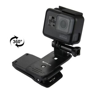 Gopro Camera 360° Backpack Clamp Clip Mount For Go Pro Hero 5 Session 4 3+ 3 AU