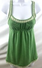 Hollister Womens/Juniors Size XS Green & White Baby Doll Tank Top