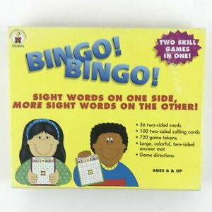 Bingo Sight Words and More - Skill Level 1 - 36 Double Sided Cards - CD-8910