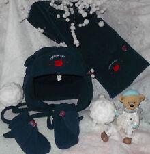 ensemble polaire assorti moufles,bonnet,écharpe bleu taille 3 mois/2 ans NEUF