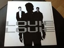 """LOUIE LOUIE . ONLY TIME WILL TELL  . 1989 . RARE  1980s HIT 7"""" vinyl single"""
